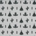 Tissu Soft Cactus Skew Cube noir et blanc