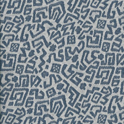 Tissu Jersey Maille 70% cot/30% pol70 bleu