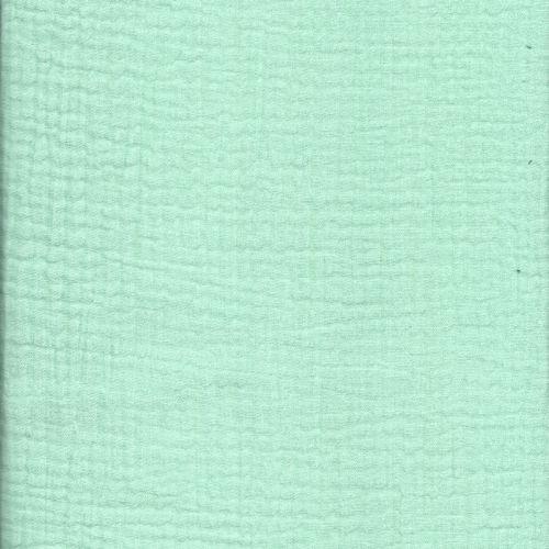 Tissu double gaze 100% coton vert amande