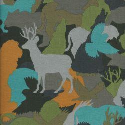 Tissu sweat camouflage