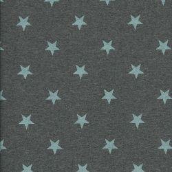 Tissu sw étoiles glitter bleu fd gris