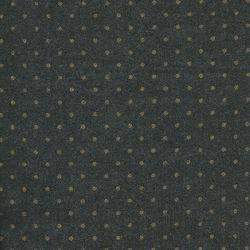 Tissu Lainage France Duval gris pois dorés
