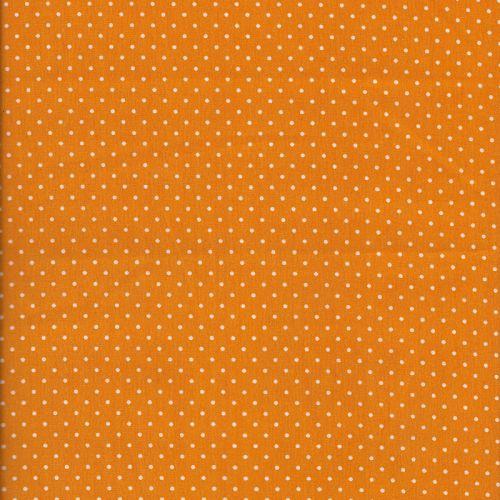 Tissu coton jaune pois blancs