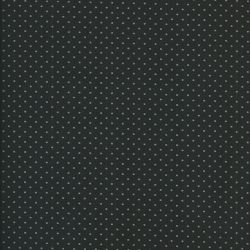 Tissu coton noir à pois verts