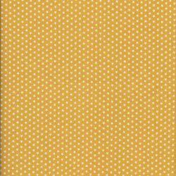 Tissu coton jaune à étoiles
