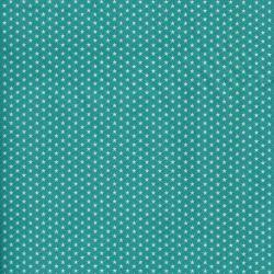 Tissu à étoiles bleu turquoise