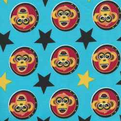 Tissu Jersey BIO Monkey Tile