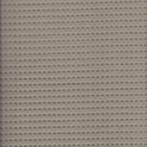 Tissu nid d'abeille taupe 100 % coton