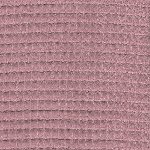 Tissu nid d'abeille rose 100% coton