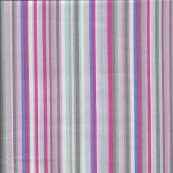 Tissu coton rayures rose/bleu