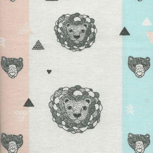 Tissu lions bubbles