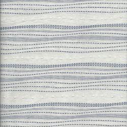 Tissu japonais Sashiko Yoro 97%cot/2%ac/1%Ny navy