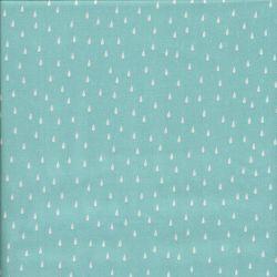 Tissu viscose Drops Aqua