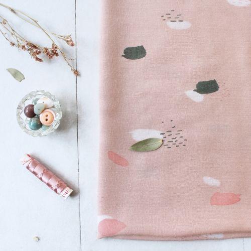 Tissu Viscose  moonstone pink