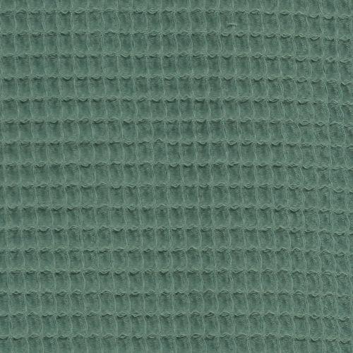Tissu nid d'abeille vert 100% coton
