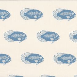 Tissu coton linon Fish See You At Six