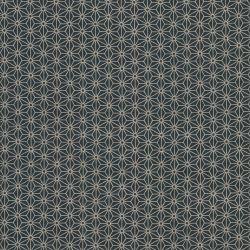 Tissu japonais 100 % coton fleurs de lin noir