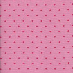 Bord côte 1/1 tubulaire 35 rose à pois