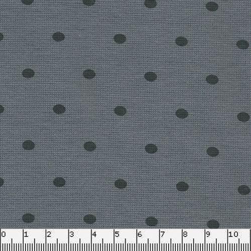 Bord côte 1/1 tubulaire 35 gris à pois