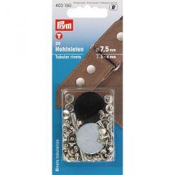 Carte 20 Rivets 3-4mm tubulaires laiton pour épais