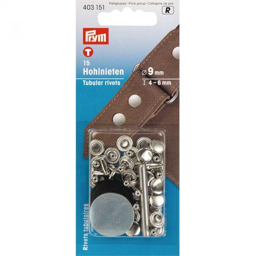 Carte 15 Rivets 4-6mm tubulaires laiton pour épais