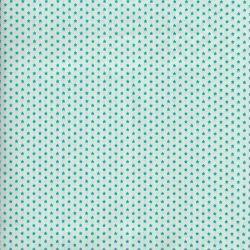 Tissu à étoiles bleu turquoise Poppy 100 % cot