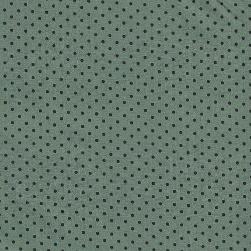 Tissu coton noir à pois noir