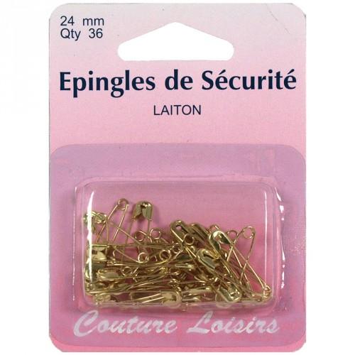 Epingles de sécurité laiton n°0 X36 - 24 mm