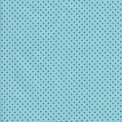 Tissu coton pois bleus 3mm