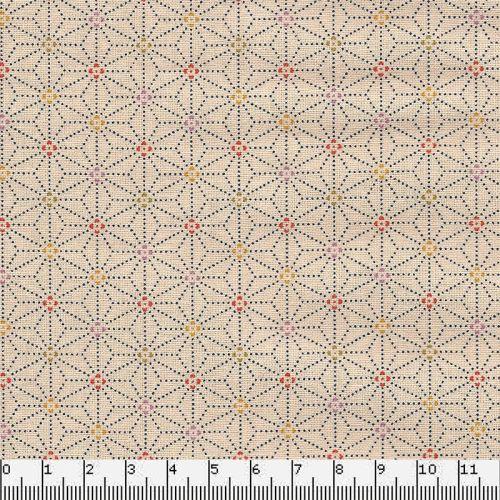 Tissu japonais 100 % coton fleurs de lin naturel