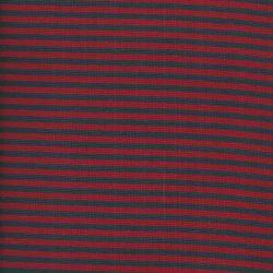 Bord côte rayé marine/rouge larg 35cm 95%cot/5% el