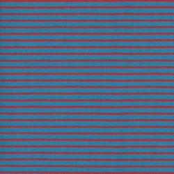 Tissu jersey rayé bleu/rouge