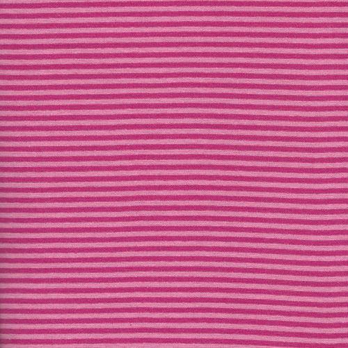 Bord côte rayé fuschia/rose