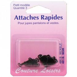 Agrafes noires pour jupes