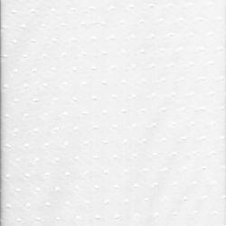 Tissu coton plumetis blanc