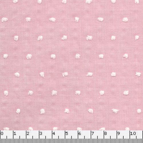 Tissu coton plumetis rose