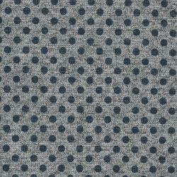 Tissu maille pois métal bleu fd gris
