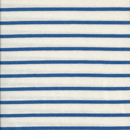 Tissu jersey marinière blanc/bleu