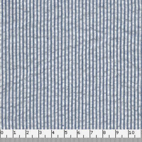 Tissu seersucker bleu/blanc
