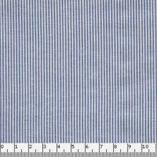 Tissu rayé bleu/blanc