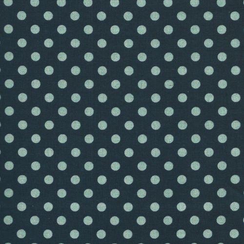 Tissu japonais lin pois bleu clair