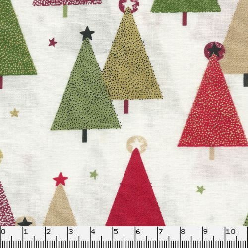 Tissu coton trees cream Makower