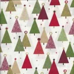 Tissu coton trees cream Makower