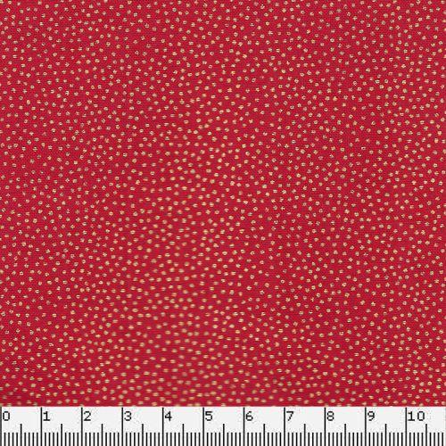 Tissu coton dotty rouge Makower