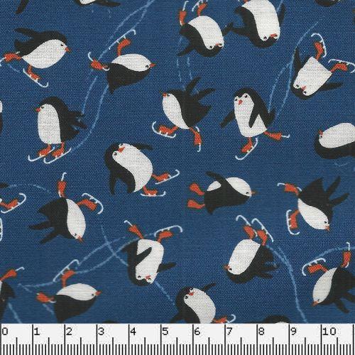 Tissu coton pingouins Makower