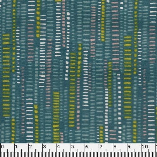 Tissu coton stripe blue Makower