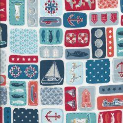 Tissu coton Marina