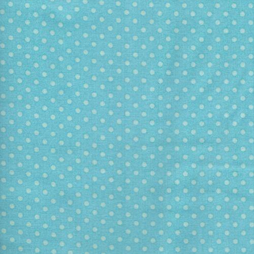 Tissu pois 4 mm bleu turquoise