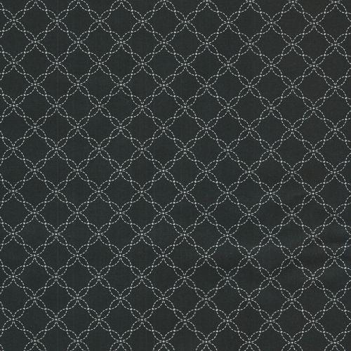 Tissu arabesques fond noir patch 100% coton