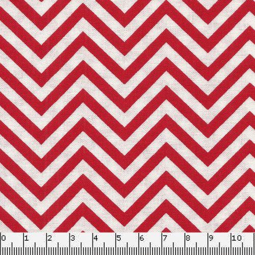 Tissu chevron rouge et blanc